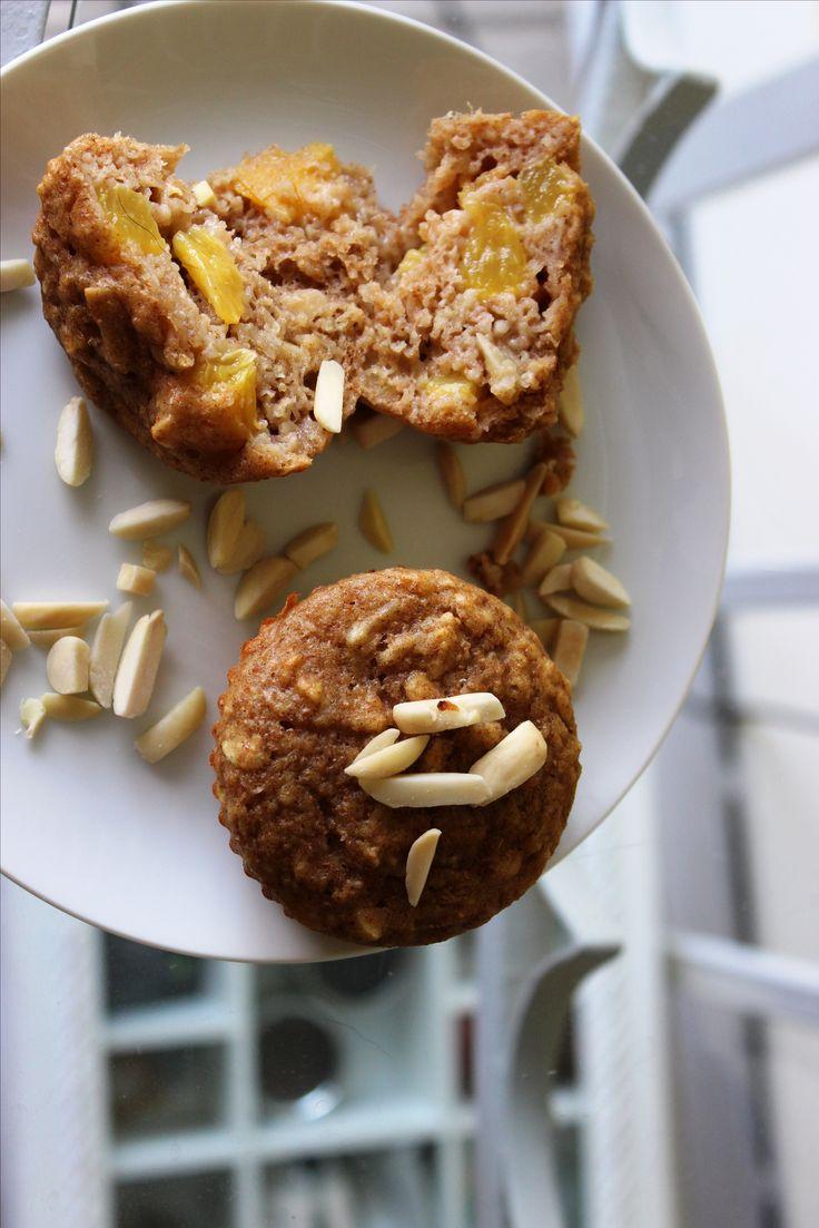 Muffin yogourt et pêches d'automne