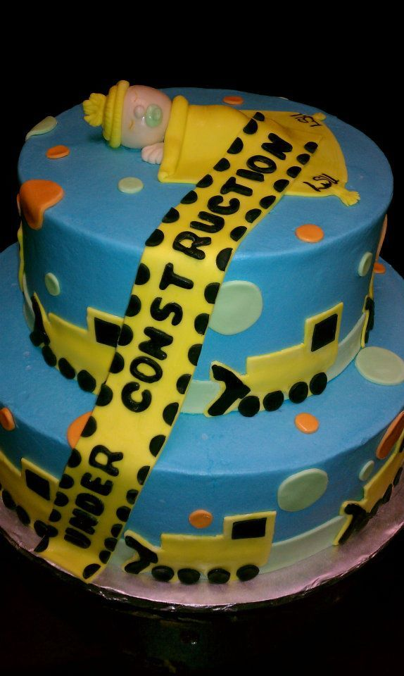 construction theme baby shower | Baby Under Construction