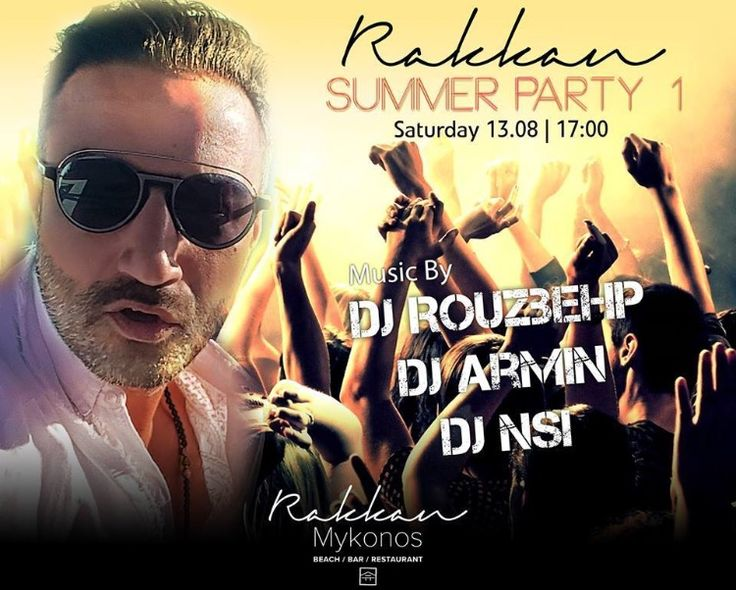 DJ's Rouzbehp & Armin @ Rakkan Beach Club Restaurant  August 13th