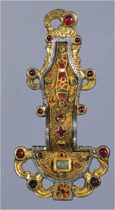 Merovingian Looped Fibula. Sixth to Seventh century CE, Early medieval, Frankish