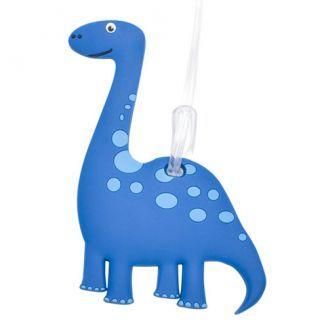Bobble Art Blue Dinosaur bag Tag