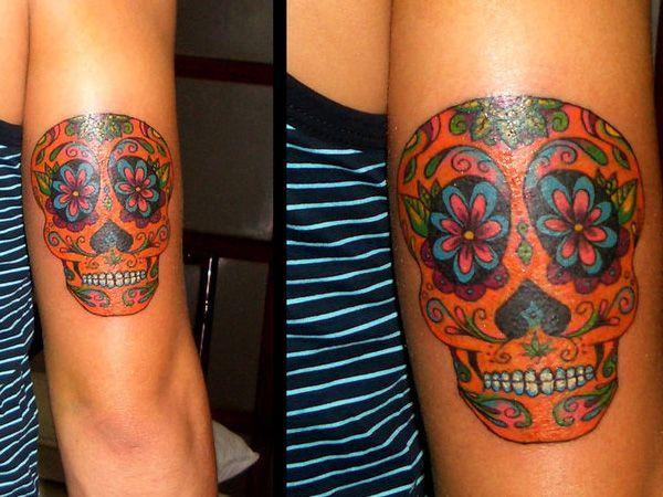 mexican sugar skull tattoo 28 Fancy Sugar Skull Tattoos