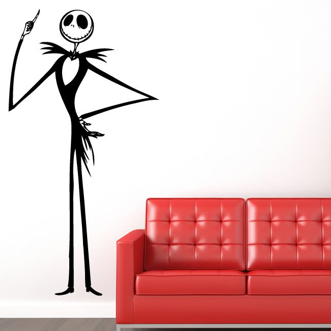 Jack Skellington Nightmare Before Christmas Wall Decal Decor Words Large  Nice Sticker By Value Decals, Part 68