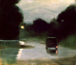 Clarice Beckett, Wet Evening, c.1927