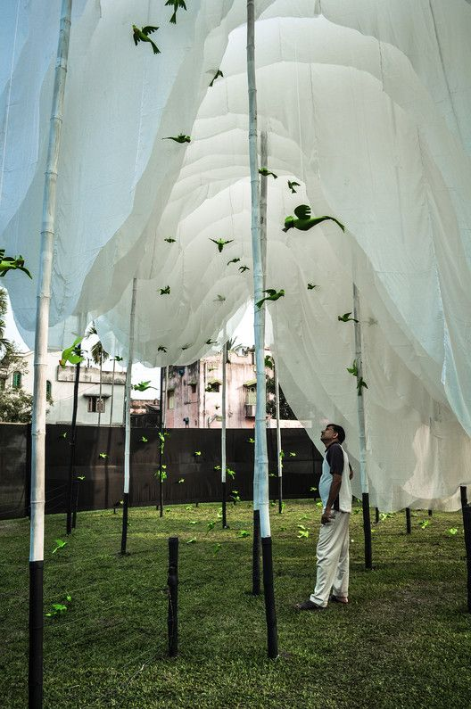 Gallery of Abin Design Studio Constructs Pavilion of Canopies for Indian Cultural Festival – 1
