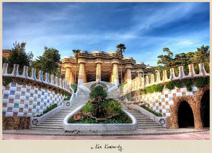 Parc Güell, #Barcelona. This was a huge surprise for me. I expected little more than trees & grass, and I got this magnificence instead.: Park Güell, Parks, Elements Situated, Travel, Architectural Elements, Barcelona Spain, Antoni Gaudí