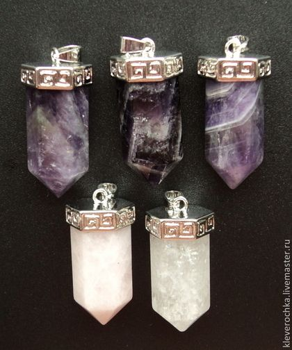 Подвески-кулон микс маятник кристалл из камня для украшений