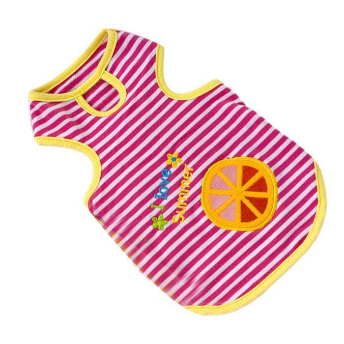 Kutyaruha, csinos, csíkos pamut kutyatrikó nyári estékre - I love summer! Vidám, nyári színek, zamatos gyümölcsök - Kiskutyája kellemesen érezheti magát a trikóban - Könnyű, nyári viselet, divatos színben - Rózsaszín csíkos kutyatrikó XL-es méretben - Háthossz: 35cm - Shi Tzu, Máltai, Pekingi, Pudli, Bolognese, Havanese kutyusoknak ajánljuk termékünket #kutyamodi #kutyaruha #dog #dogdress #cutedog