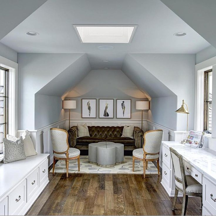 Beautiful And Practical Way Of Finishing Space Attic Over A Garage By