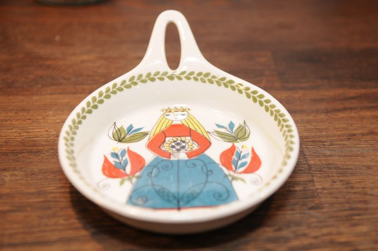 Figgjo Flint FF Norway Saga Design  Flameware Skillet/ Frying Pan by nORDICbYhEART on Etsy
