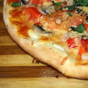 Фото к рецепту: Быстрое тесто для пиццы