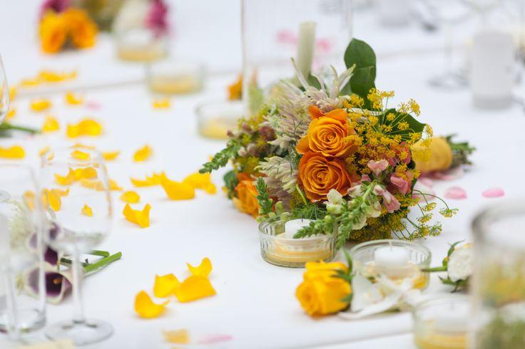 Tafeldecoratie: De Kort Catering (locatie Orangerie Domaine Heerstaayen)