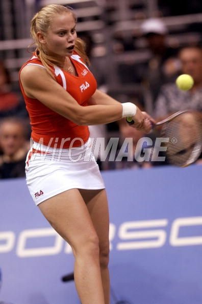 Jelena Dokic in action against...