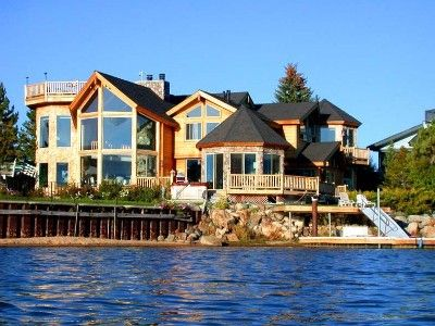 Custom Lakefront Lodge 5 Br 5 Ba 2 Hottubs Best B Dock