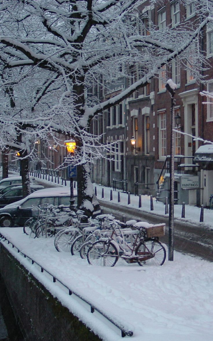 Winter in Amsterdam. The Netherlands