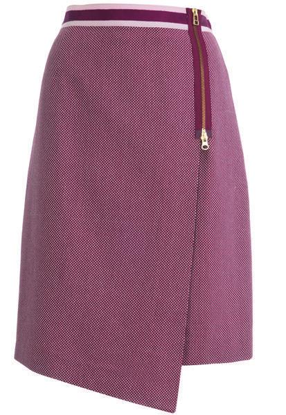 Юбка узкая с запахом - выкройка № 109 из журнала 12/2013 Burda – выкройки юбок на Burdastyle.ru