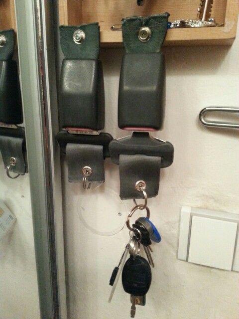 Safety belt key ring