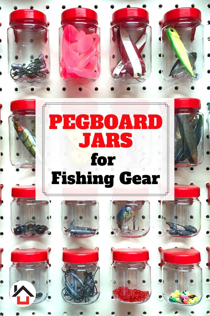 World Axiom Short And Tall Pegboard Jars Will Maximize Your Fishing Lures And Terminal Tackle Storage And Or Pegboard Accessories Pegboard Craft Room Peg Board