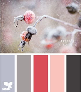 Love: Colour Combinations, Colors Combos, Frostings Tones, Design Seeds, Clay Gray, Bright Coral, Colors Palettes, Colors Schemes, Girls Rooms