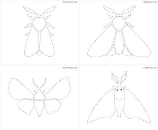 Free printable Moth dotted drawing worksheet/activity for kids ...