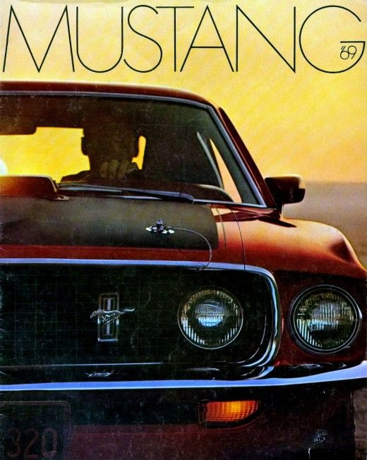 Ford Mustang vintage photography from 1969.