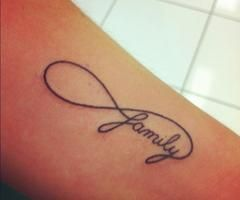 Infinity Symbol Tattoo with Words | Infinity symbol with family and I would put her birthdate on the top ...