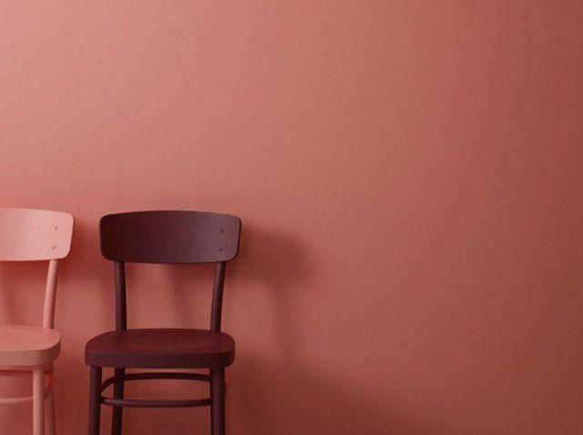 Mur rouge tomette