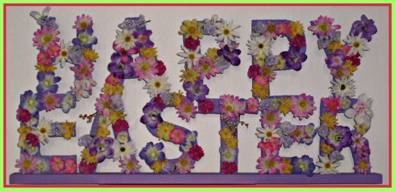 Flower Full Happy Easter  Free Shipping by BobsBetts on Etsy, $25.00Free Ships, Flower Full, Easter Free, Full Happy, Happy Easter