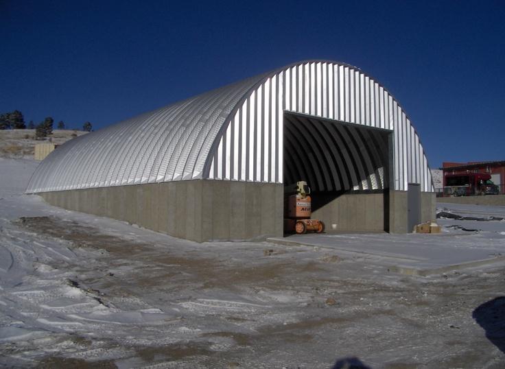 Municipal Quonset Hut Type Steel Buildings Salt Storage
