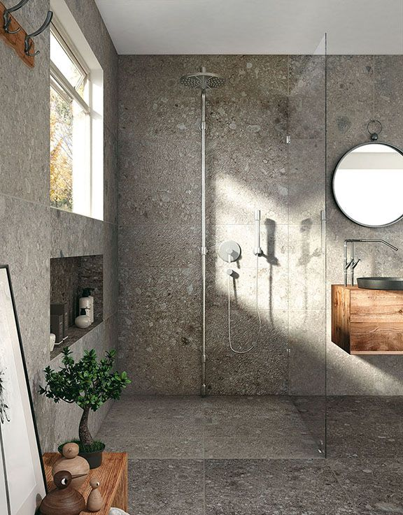 In the Norr porcelain stoneware collection, Mirage enters a new, unique realm. Ceramic surfaces become tactile and a harmoniously irregular grain becomes the focus. Pebbles of varying colours and shapes create pleasant three-dimensional effects, breathing life into surfaces with a natural yet contemporary surface. #natural #contemporary #porcelain #norr #mirage www.granitivicentia.com