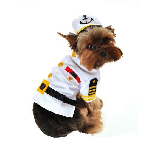 Dog Costume - Navy Officer - Sea Captain