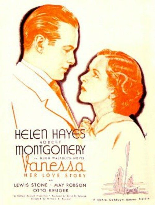 Helen Hayes and Robert Montgomery in Vanessa, Her Love Story (1935).  Mickey Daniel had an uncredited role of Harries Servant