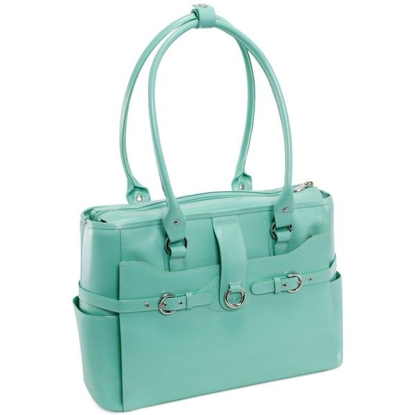 McKlein Willow Springs Leather Laptop Briefcase ($320) ❤ liked on Polyvore featuring accessories, tech accessories, aqua blue, leather laptop case, leather laptop briefcase, leather computer briefcase, padded laptop case and laptop briefcase