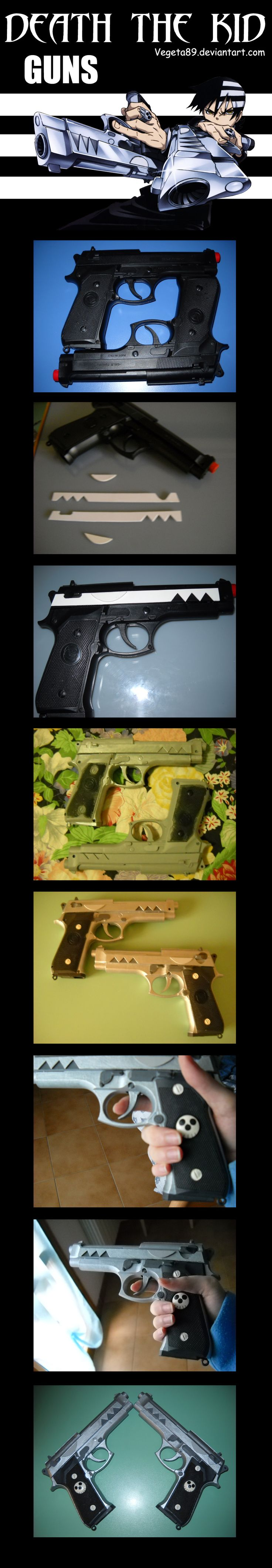 Death The Kid Guns Tutorial by ~Vegeta89 on deviantART