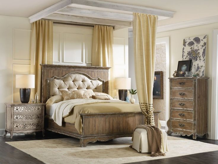 Hooker Furniture Chatelet Upholstered Mantle Panel Bedroom Set Come Home To Your Little Castle