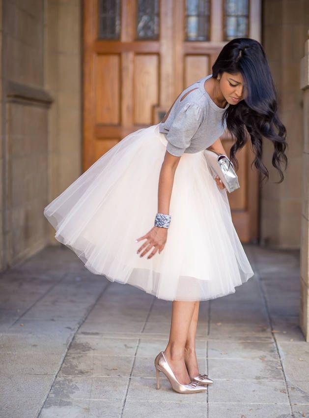 Always love a tulle skirt! Whimsical, flirty, tulle skirt