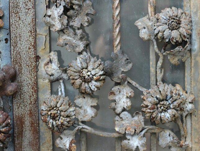 Wrought iron gate...