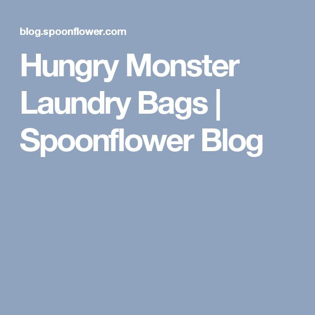 Hungry Monster Laundry Bags | Spoonflower Blog