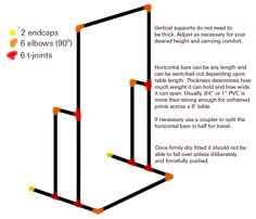 To hang stock/banner from around stall, and it would flat-pack!