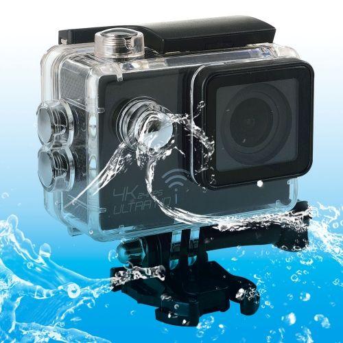 [USD81.41] [EUR73.24] [GBP57.78] SJ8000 WiFi Novatek 96660 Ultra HD 4K 2.0 inch LCD Sports Camcorder with Waterproof Case, 170 Degrees Wide Angle Lens, 30m Waterproof(Black)