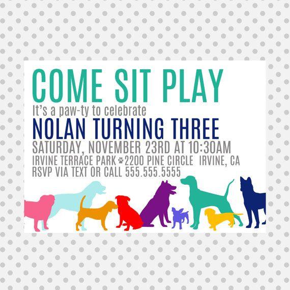 7 best Pet Invitations images on Pinterest Dog parties