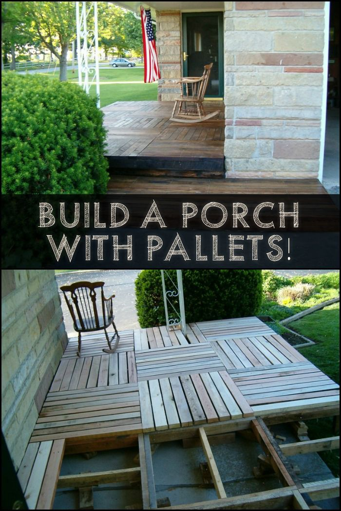 Here's a cheap and effective way to build a porch or renovate one that has seen better days!