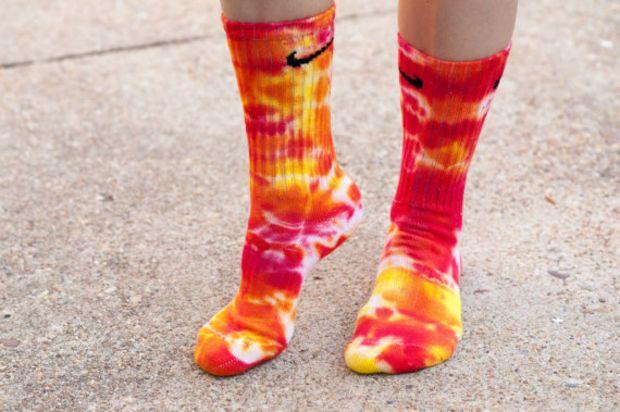 Fire Storm Tie Dye Nike Socks