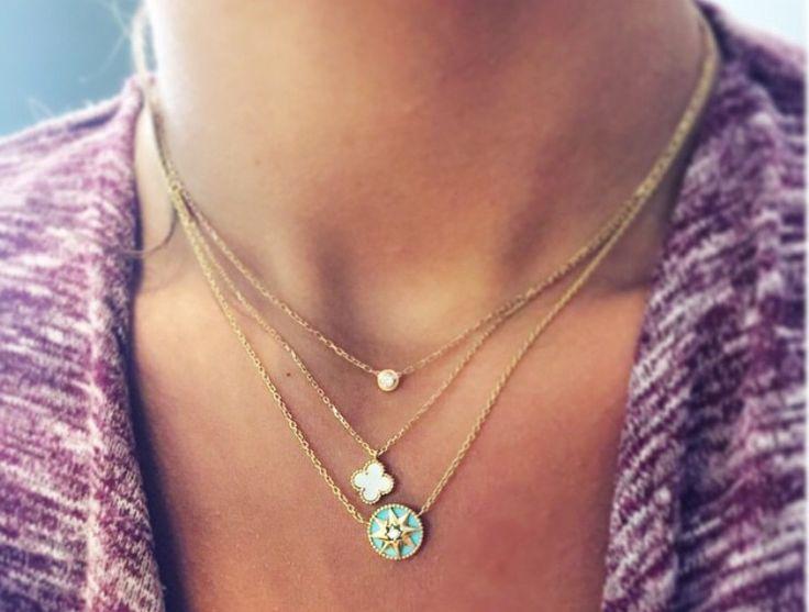 Cartier diamond spotlight van cleef alhambra sweet dior rose des vents necklace