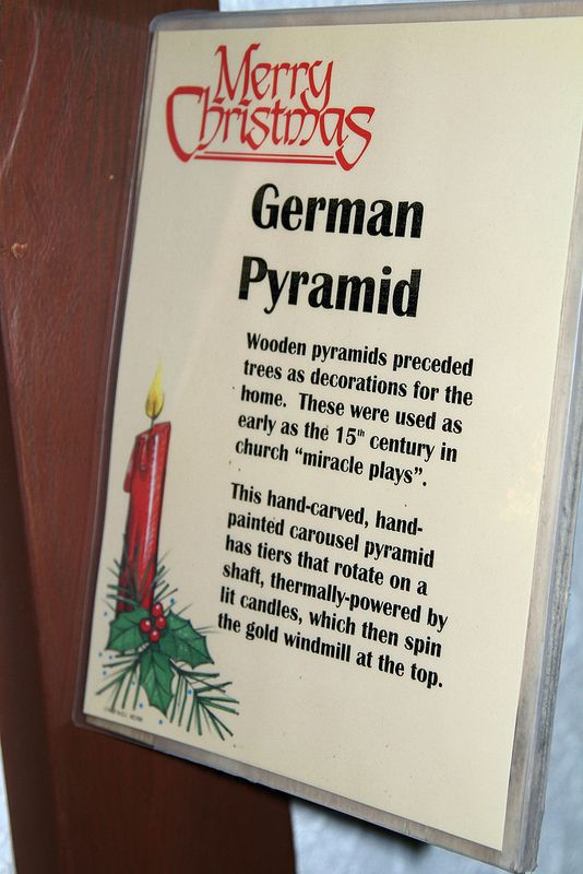 Here is some info on the German Christmas Pyramids!