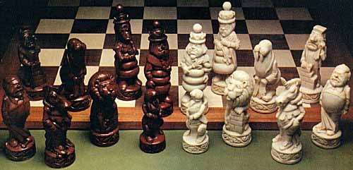 Lewis Carroll chess set
