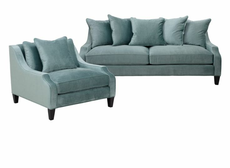 Chic Combo   Brighton Aqua Sofa U0026 Chair $2,378.30 #zgallerie