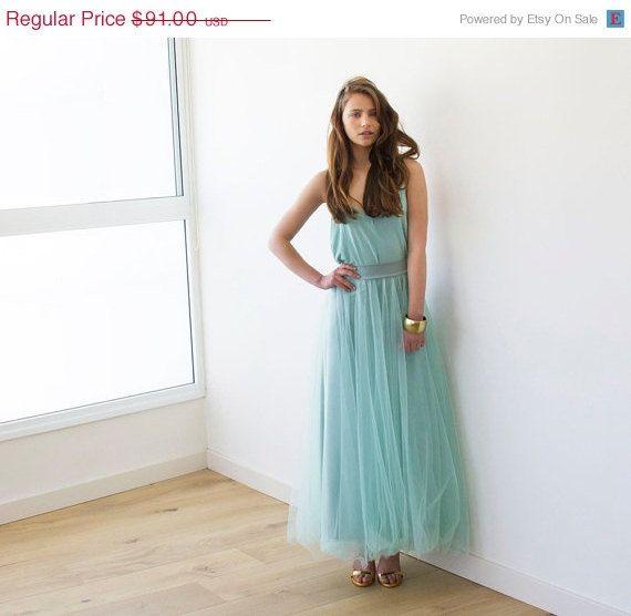 EASTER SALE Mint maxi tulle skirt Wedding Skirt  door BLUSHFASHION, $81.90