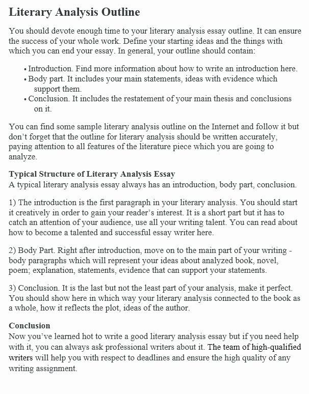 Book Analysi Format Sample Lovely How To Write A Literary Outline Example At Essay Ib Critical On Poem