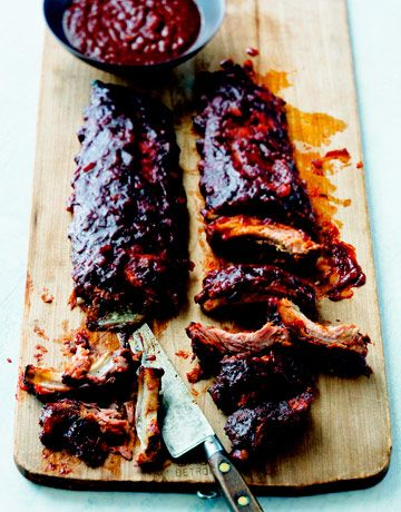 Curtis Stone's Recipe for Ribs  tagging this for Jonathan, one of his fav's